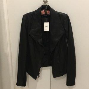 Vince scuba leather jacket.